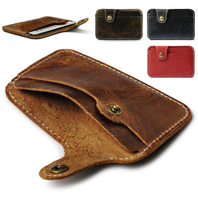 Mini Slim Leather Credit Card Holder Men Mini Wallet ID Case Pouch High Quality