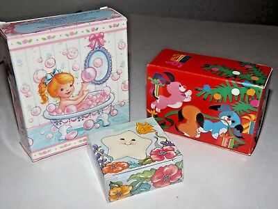 New Vintage Lot Avon For Kids Perfectly Pink Gift Set/ruff Tuff& Sweet Sea Soaps