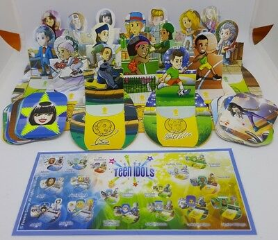 Kinder 2017, Teen Idols Cards, compl. set with all Bpz.