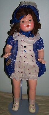 Superb Composition Doll In Original Clothng - Stunning Doll - 22""