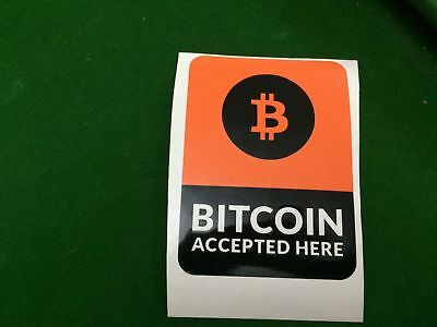 Bitcoin Accepted Here sticker / Decal