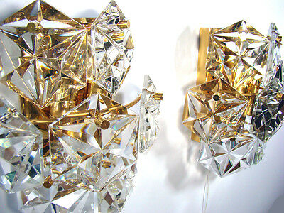 Beautiful Set of 2 Matching Vintage Crystal Wall Sconces Kalmar Vienna Austria