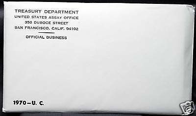 1970 U.S. MINT SET. ISSUED BY US MINT. Envelope Sealed / Unopened