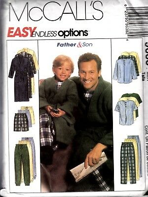 Mccall's Sewing Pattern #9638 Mens Robe, Shorts, Pants, Top Size M,l, Xl