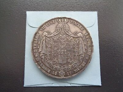 1841 Germany 2 Thaler 3 1/2 Gulden large Silver coin