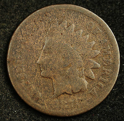 """1870 Indian Head Cent. """"Pick Axe"""" Variety. Pick Axe inside bottom feather  93436"""