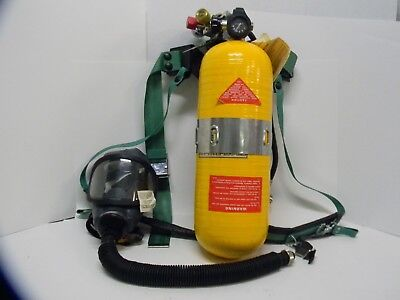 MSA Air Work Mask SCBA Air Supply Self Contained Breathing Apparatus Tank Case