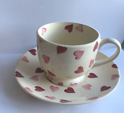 Emma Bridgewater Pink hearts cup and saucer