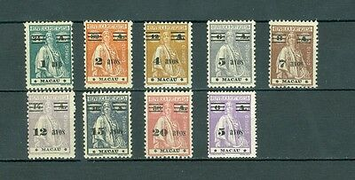 Macao/macau 1931-33 'cares' Stamps Of 1913-24 Surcharged With New Values Mlh Vf