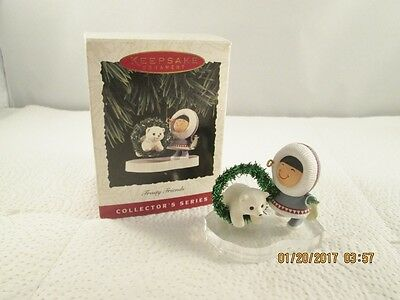 1994 Hallmark Frosty Friends Keepsake Ornament Ice Hockey Penguin 15th Series
