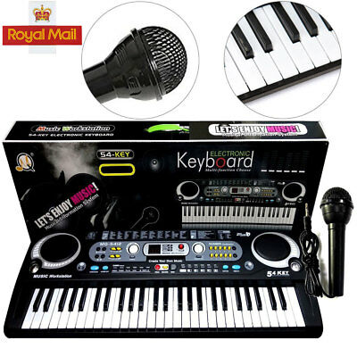 Digital 54 Keys Electronic Keyboard&Microphone Mic Electric LED Adult Size Set