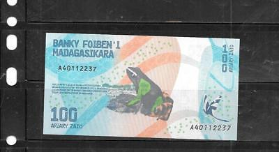 Madagascar 2017 100 Ariary New Uncirculated Banknote Paper Money Currency  Note