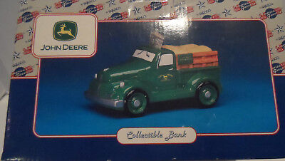 John Deere Collectible Bank Truck ceramic New in Box