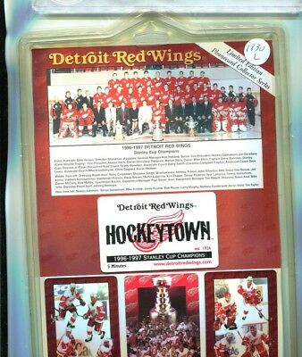 Detroit Red Wings 1996 1997 Stanley Cup Champions 4 Phone Card Lot Of 5 Sets