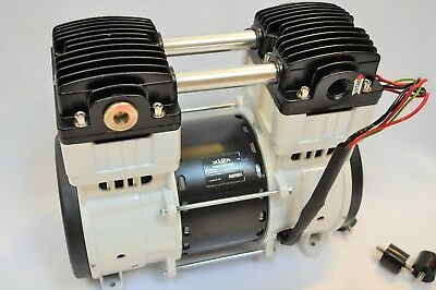 Twin Piston Oilless Vacuum Pump Push/Pul 10CFM Science Medic/Dental Lab Workshop