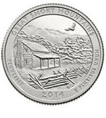 2014 P Great Smoky Mountains National Park Quarter - Brilliant Uncirculated
