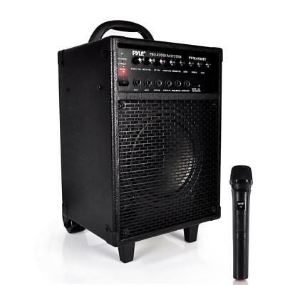 Pyle Wireless Portable Bluetooth PA Speaker System, Built-in Rechargeable Batter