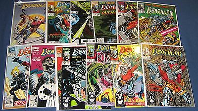 15 Issues Of Deathlok #1-4, 6, 7, 10, 12-16, 19, 22 & Book #1
