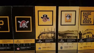 Pittsburgh Pirates 2018 Ticket Stubs - many games available