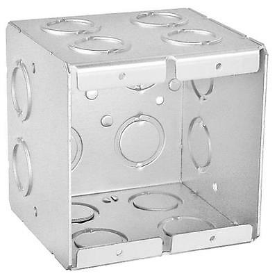 "Solid, 3-1/2"" Deep, Two Gang Masonry Box, Set of 4"