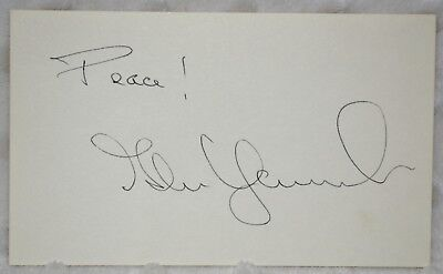 Qualified Mario Puzo The Godfather Autographed 3x5 Index Card Signed Beckett Bas Grade 10 Entertainment Memorabilia