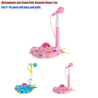 Kids Karaoke Microphone Microphones for Singing with Stand with Light Effect NEW