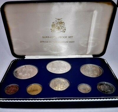 1978 Barbados 8 Coin Proof Set Franklin Mint
