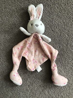 Mini Club Boots Baby Girls Pink Floral Bunny Rabbit Comforter Soft Toy
