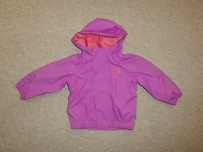 5006a1b679ad The North Face Rain Jacket Tailout Infant Girls Hooded Waterproof NEW sz  6-12
