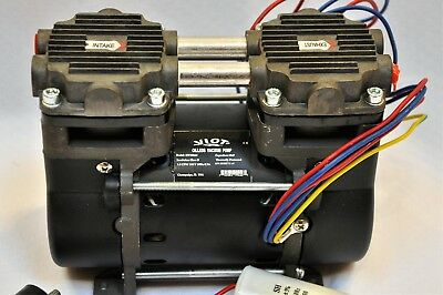 Dry Run Twin Piston Oilless Vacuum Pump/Compressor 1.5CFM Push/Pull O2 Generator