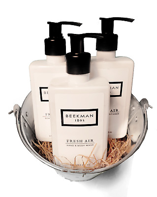 Beekman 1802 Fresh Air Goat Milk Shower Bucket—Shampoo + Conditioner + Body Wash