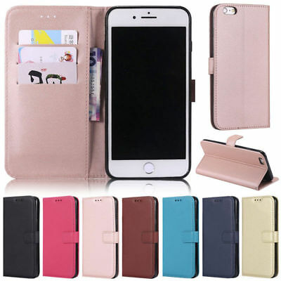 For iPhone XS MAX XR 7 8 Plus Flip Card Wallet PU Leather Case Stand Cover Strap