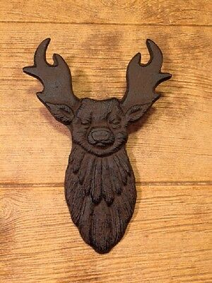 "Cast Iron Rustic Brown Deer Boot Jack 10 3/4"" long Home Decor 0170-05637"