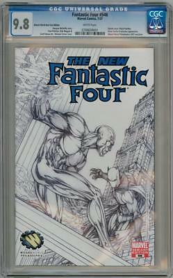 Fantastic Four #546 Wwe Michael Turner Variant Cgc 9.8 Silver Surfer Panther
