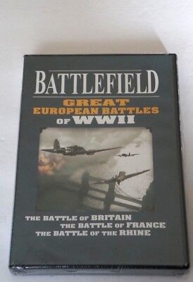 BATTLEFIELD GREAT EUROPEAN BATTLES OF WWII NEW Factory Sealed DVD 3 Disc Set