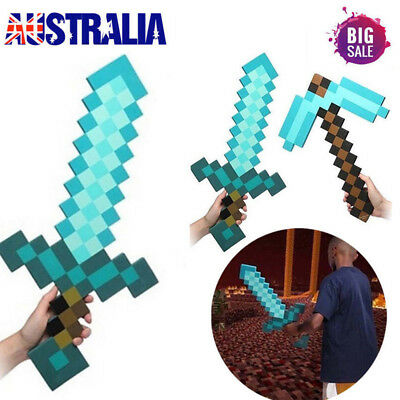 Minecraft 2-in-1 Sword & Pickaxe Dual Action Fun Kids Gift Toy Cosplay Gamer Hot