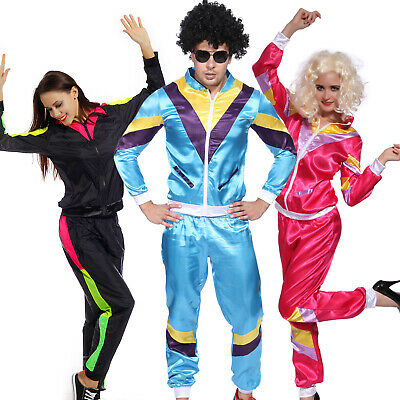 Carnival costume 80s tracksuit for festival Carnival Assi-suit sports suit