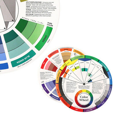 Artists Color Wheel Mixing Guide Diameter Nail Color Selection Embroidery Wheel