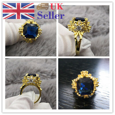 Antique Style 18K Gold Plated Filled Rhinestone Wedding Engagement Party Ring