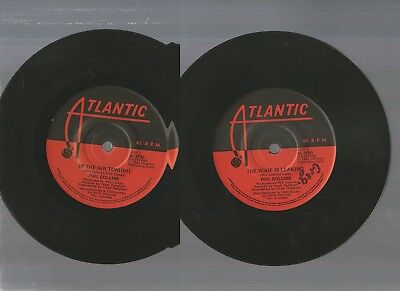 "PHIL COLLINS, IN THE AIR TONIGHT / THE ROOF IS LEAKING 7""45rpm SINGLE RECORD1980"