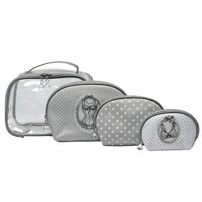 Mathilde M Travel Cosmetic Toiletry Bag & 3 Pouch Esprit Lingerie Make Up Bags