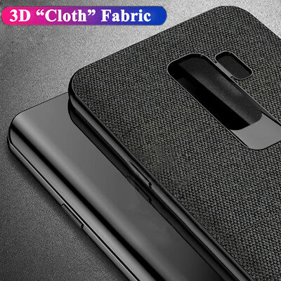 3D Cloth Fabric Rugged Bumper Hard Phone Case Cover for Samsung Galaxy S10 Plus