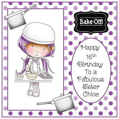 Birthday Card Chef Friend Brother Sister Son Daughter Aunt Uncle Mom