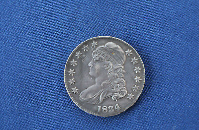 1834 Capped Bust Silver Half Dollar Large Date & Letters Great Type Coin M1034