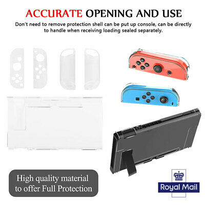 Clear Shockproof Hard Protective Cases Covers For Nintendo Switch Console Game