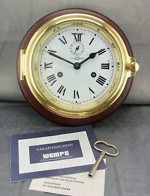 Maritime Wanduhr Wempe Glasenuhr Messing