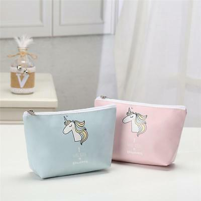 Unicorn Make Up Bag Gift Pencil Case Cosmetic Kids Girls Party Bag Women New LA