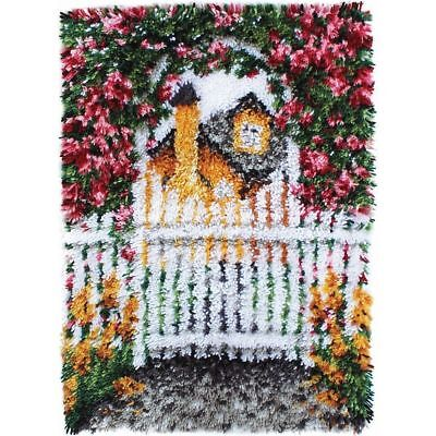 Garden Gate Latch hook Kit Rug Making kit 24x34 inches by Caron