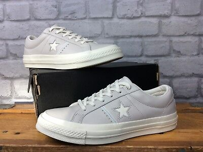 5151d186f029 Converse Uk 5 Eu 37.5 One Star Ox Pale Putty Grey All Star Lo Leather  Trainers
