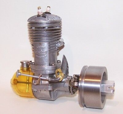 "Vintage 1946 Super Cyclone GR-60 ""Twin Plug"" Tether Car Engine W/Flywheel"